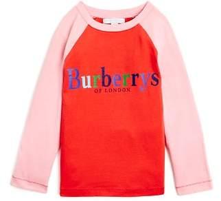 Burberry Girls' Tildia Two-Tone Logo Top - Little Kid, Big Kid