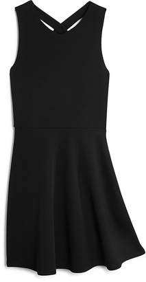 AQUA Girls' Cross Front Dress, Big Kid - 100% Exclusive $68 thestylecure.com