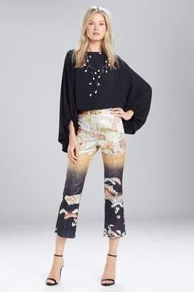 Natori Josie Scenery Metallic Jacquard Culotte Pants