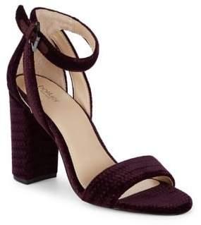 Botkier New York Velvet Ankle Strap Sandals