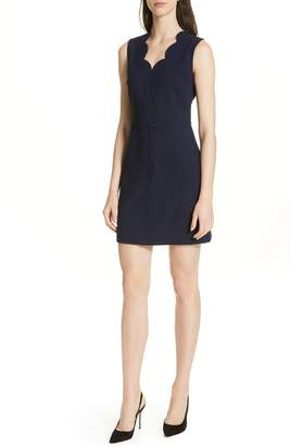 Ted Baker Rubeyed Scallop Edge A-Line Dress