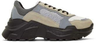 Balmain Black and Grey Jace Sneakers