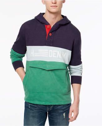 Tommy Hilfiger Men's Sullivan Colorblocked Hooded Anorak