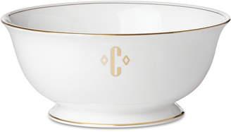 Lenox Federal Gold Monogram Serving Bowl, Block Letters