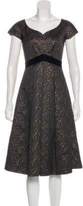 Barbara Tfank Metallic Midi Dress