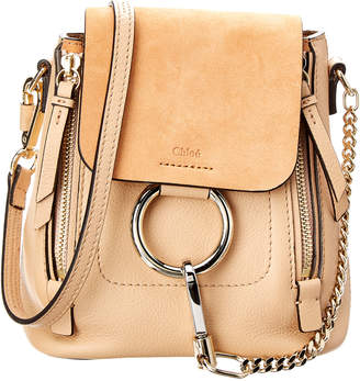 Chloé Faye Mini Leather & Suede Backpack