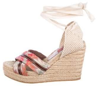 Missoni Peep-Toe Wedge Sandals