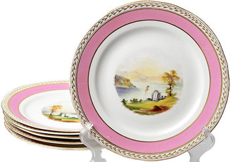 One Kings Lane Vintage 19th-C. Hand-Painted Plates - Set of 6 - Portfolio No.6