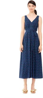 Rebecca Taylor Speckled Dot Silk Midi Dress
