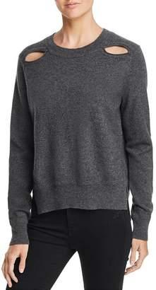 Aqua Cutout High/Low Cashmere Sweater - 100% Exclusive