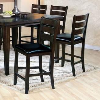 ACME Furniture ACME Urbana Counter Height Chair, Black PU & Cherry (Set of 2)