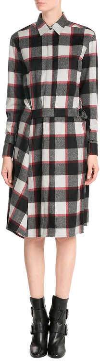 3.1 Phillip Lim 3.1 Phillip Lim Wool-Angora Plaid Shirt Dress