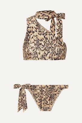 Zimmermann Eyes On Summer One-shoulder Leopard-print Bikini - Leopard print