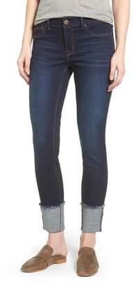 1822 Denim Roll Cuff Ankle Skinny Jeans