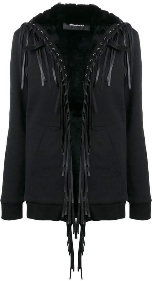 fringe embellished loose jacket