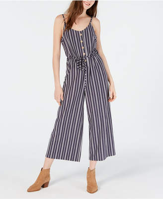 American Rag Juniors' Striped Cropped Wide-Leg Jumpsuit