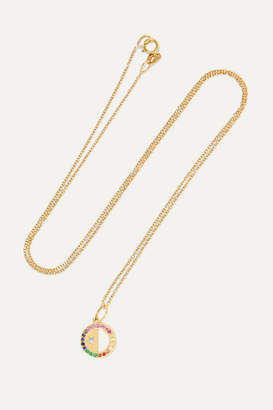 Andrea Fohrman Half Moon 18-karat Gold Multi-stone Necklace