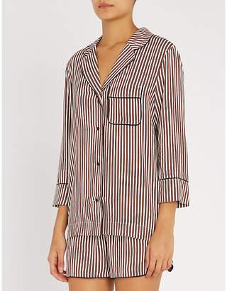 love stories Jude striped woven pyjama shirt