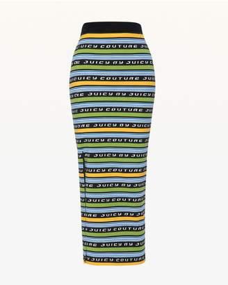 Juicy Couture JXJC Juicy Racer Stripe Midi Skirt