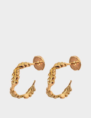 Aurelie Bidermann Fine Jewellery - 18K Gold Mini Wheat Hoops
