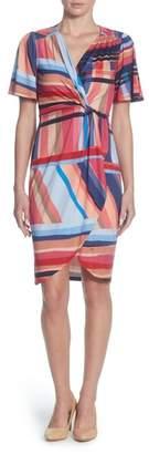 Catherine Malandrino Nyla Twist Front Sheath Dress