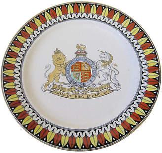 One Kings Lane Vintage Antique English King Edward VII Plate
