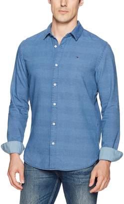 Tommy Hilfiger Indigo Dobby Long Sleeve Shirt