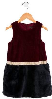 Imoga Girls' Gia Faux Fur Dress