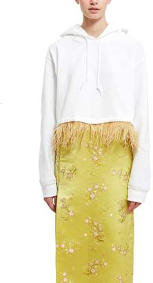 Opening Ceremony Feather Trim Hoodie