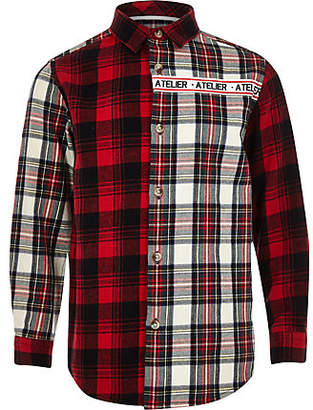 River Island Boys red 'Atelier' check shirt