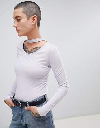 Cheap Monday Care Neck Strap Long Sleeved Top