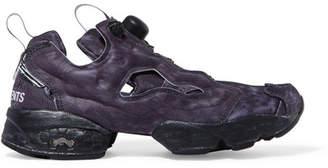 Vetements Reebok Instapump Fury Og Logo-print Neoprene And Mesh Sneakers - Black