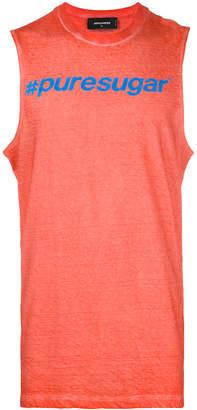 DSQUARED2 slogan print vest top