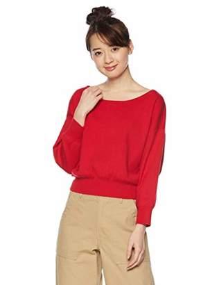Jill Stuart (ジル スチュアート) - [ジル バイ ジルスチュアート] セーター スカーフ付きドルマンニット レッド 日本 FR (FREE サイズ)