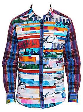 Robert Graham Men's Breaking Lands Printed Shirt