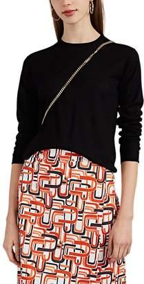 Prada Women's Fine-Gauge Knit Virgin Wool Crewneck Sweater