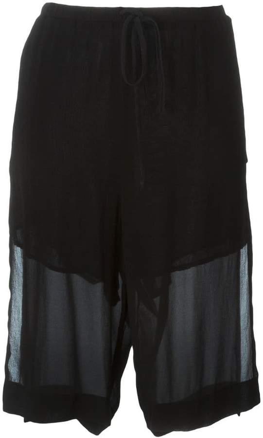 Lost & Found Ria Dunn Knielange Shorts im Lagen-Look