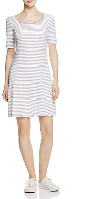 Three Dots Seamed Stripe Tee Dress $84 thestylecure.com