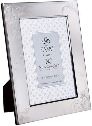 """Carrs of Sheffield Silver Sterling Silver Barbary Toile Photo Frame (6""""x4"""")"""