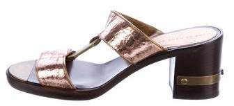 Marc Jacobs Metallic Slide Sandals