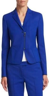 Akris Punto Front Zip Notched Jacket