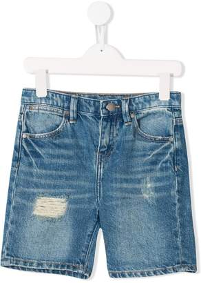 Stella McCartney distressed denim shorts