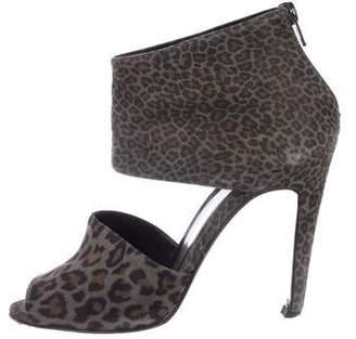 Pierre Hardy Leopard Print Suede Sandals