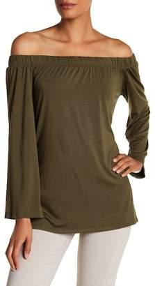 Karen Kane Off-the-Shoulder Side Slit Shirt