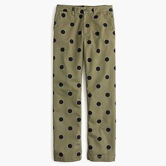J.Crew Boyfriend chino pant in polka dot
