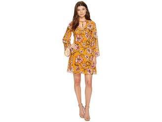XOXO Printed Harness Neck Dress Women's Dress