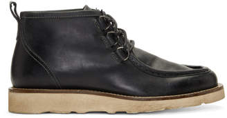 Belstaff Black Macclesfield Lace-Up Boots