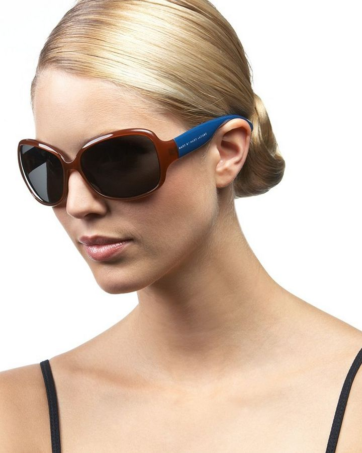 Marc by Marc Jacobs Medium Rectangle Plastic Sunglasses