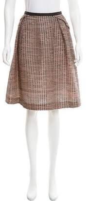 Valentino Pleated Textured Skirt