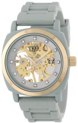 TKO ORLOGI Women's TK626GY Milano Rubber Mechanical Movement Skeleton Watch